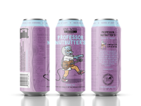 One Well Brewing - Beer Can Label - Professor Nutbutter's