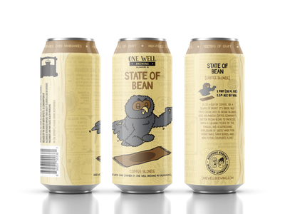 One Well Brewing - Beer Can Label - State of Bean