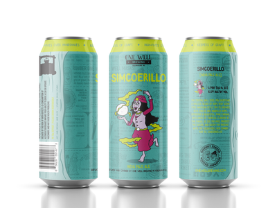 One Well Brewing - Beer Can Label - Simcoerillo