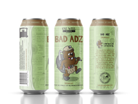 One Well Brewing - Beer Can Label - Bad Adz