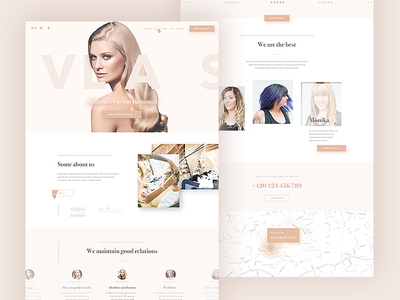 Landing page (psd) - Hairdresser free download psd about contact testemonial hero hairdresser web landing page hair