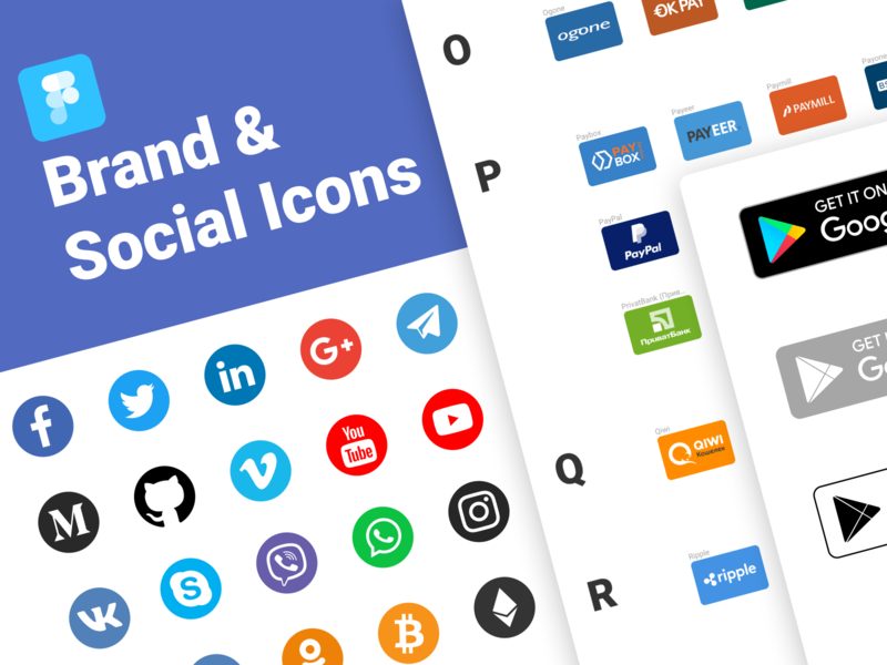 Brand & Social Icons for Figma Free