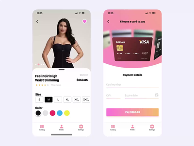 Credit Card Checkout sexy girl pay app checkout