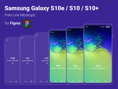 Mock Up Samsung Galaxy S10 for Figma Free template figma galaxy s10 samsung lines cellphone mock up