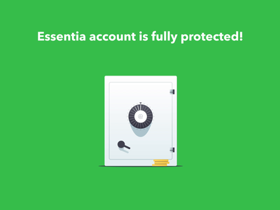 Account Security App Essentia safe essentia ess protection security cryptocurrency crypto animation