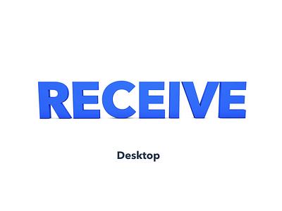 Create BTC Receive App Essentia for Desktop app launchpad desktop receive btc cryptocurrency crypto essentia ess animation