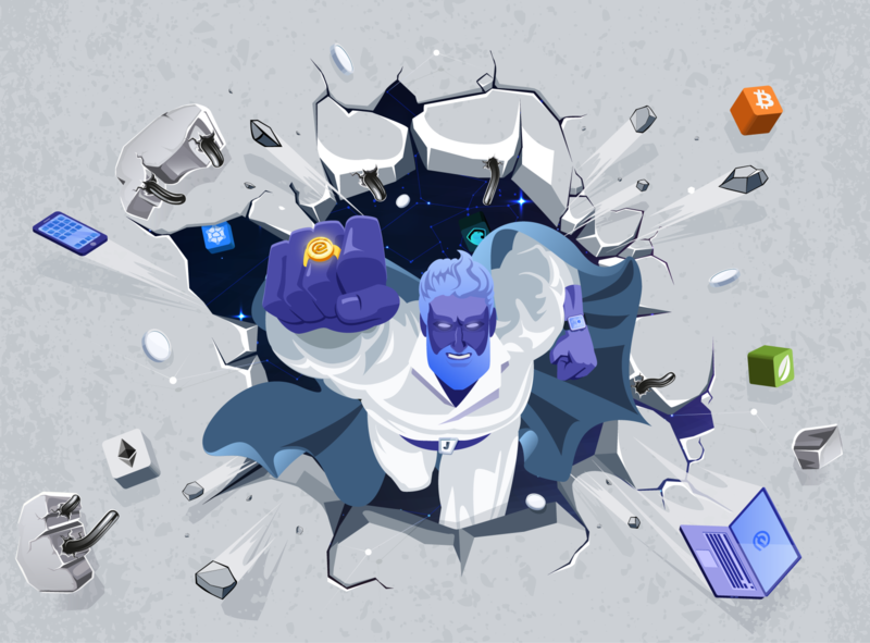 Illustration with Jarvis for Essentia