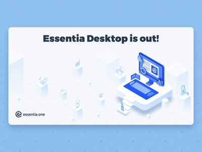 Illustrations for Essentia articles on Medium cryptocurrency crypto animation clean isometric article essentia ess illustration