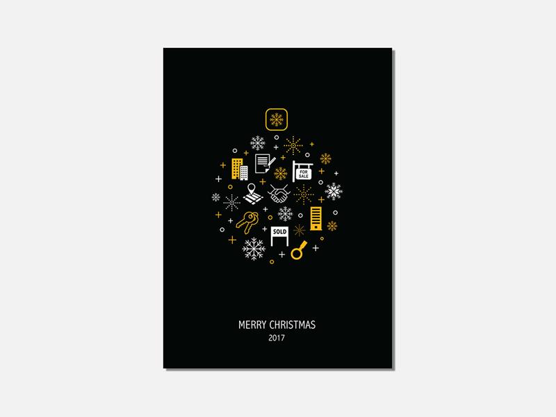 graham co christmas card mockup dribble - Company Christmas Cards