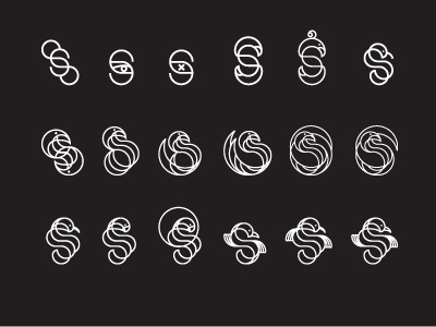 Scribe Logo logo vector branding identity lettering s bird