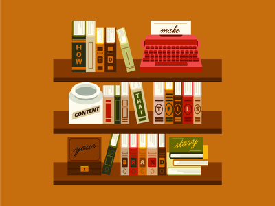 Telling Your Brand Story content marketing bookshelf books shelfie