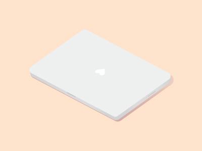 I love my macbook macbook pro apple illustrator vector