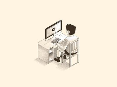 Ceo of Home Office imac desktop office mac adobe vector illustrator illustration quarantine homeoffice