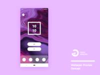 Wallpaper Preview UI Concept