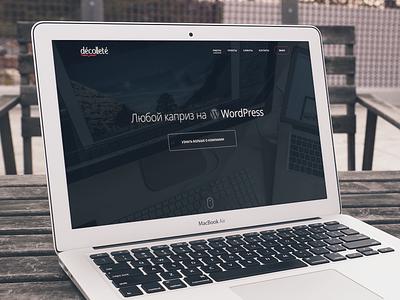 Decollete Concept  decollete company website wordpress free