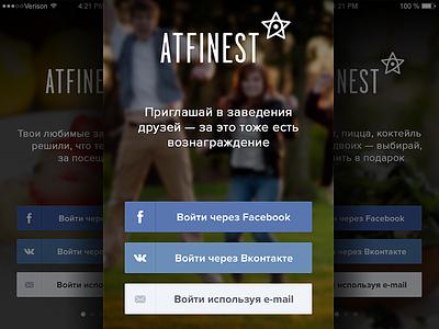 Atfinest Design Concept mobile app iphone black flat