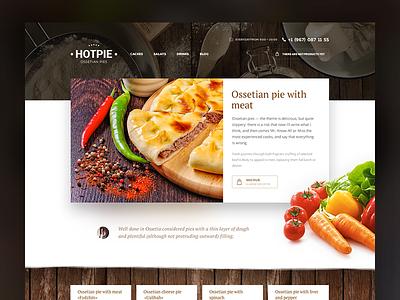 Ossetian pies shop ux web flat type branding vector icon typography ui design illustration