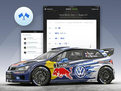 Rally Application design wrc sport car racing application iphone ipad rally