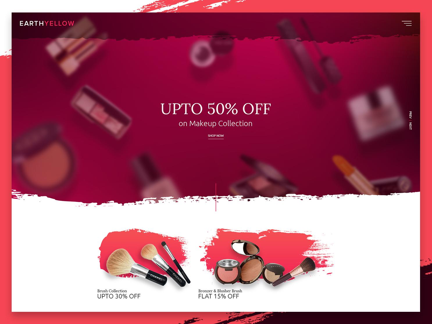 Beauty E-Commerce by Mevil for Alian Software on Dribbble