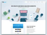Bizgeeks Home page design