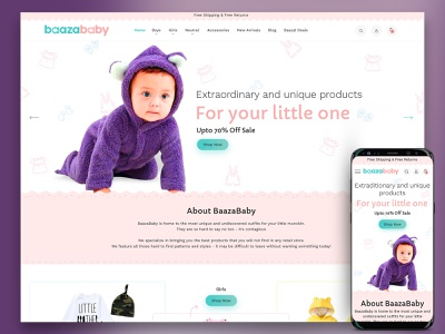 Baaza Baby E-Commerce site redesign design creative  design ecommence website ui desgin redesign website redesign concept