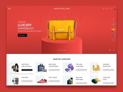 Fashion   E-Commerce Home page themeforest design ui theme design website creative  design ecommence