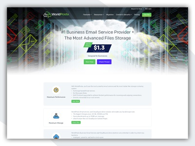 World Posta service landing page business website ui design creative  design website