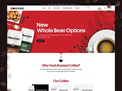 Coffee E-Commerce website clean coffee coffee website coffee bean website creative ui creative website creative  design ecommence
