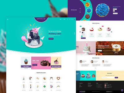 Cake Landing Page alian ui website themeforest theme design creative  design ecommence