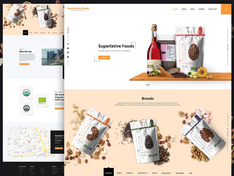 Superlative Foods ui food alian website creative website creative  design foods