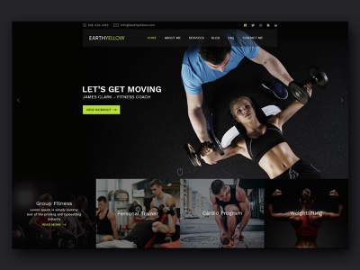Fitness Theme ui themeforest creative website theme design creative  design website