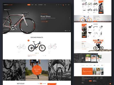 Road Bikes E-Commerce theme design alian creative website design creative  design ecommence website