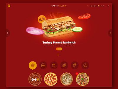 Fast Food Website creative website theme design creative  design website