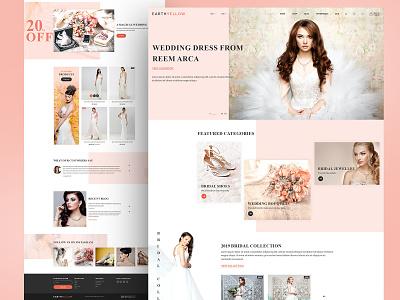 Wedding Dress e-commerce alian creative website website themeforest ecommence creative  design