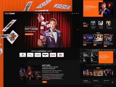 MattGore Website Design website ui creative  design