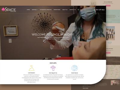 Spade Home page design creative website website creative  design