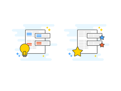 Smart templating & favorites illustration