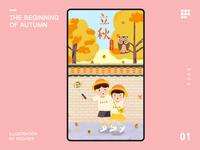 The beginning of autumn branding 24 solar terms character design 2020 illustration