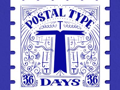 Postal Type, T: 36 Days of Type