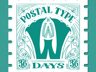 Postal Type, W: 36 Days of Type