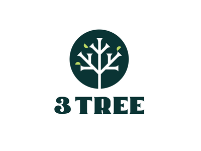 3 Tree growth leaves leaf logo vector branding illustration startup habit sustainabilty environment small business social enterprise brand identity icon logotype three 3 trees