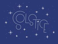 Solstice lettering