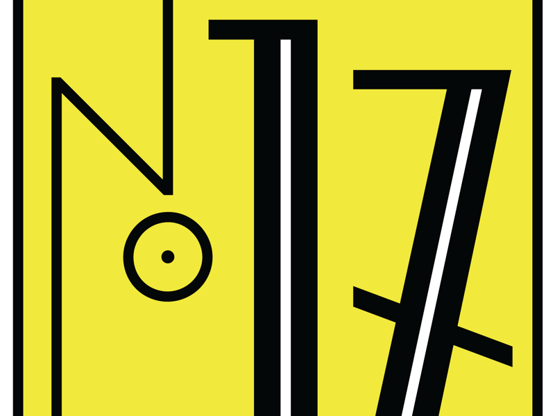 Number 17 seventeen numbers typography lettering type 17