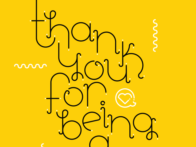 Thank you for being a friend alphabet typography love vector greeting card thank you friendship golden gate geometric design design hand type lettering goodtype golden girls