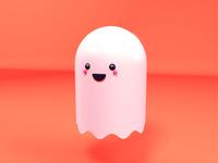 C4D cute ghost 3d