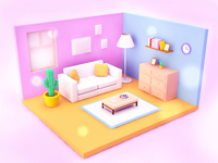 3D room 3d room candy pink pinkycolor