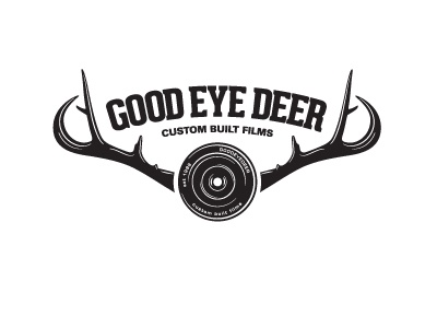 G.E.D logo film lens deer antlers antler cinematic production illustration type typography quirky