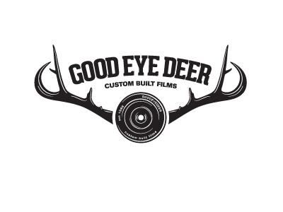 G.E.D logo film lens deer antlers antler cinematic production illustration type typography quirky