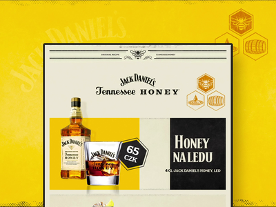 Jack Daniel's Honey - Digital Drinks Menu
