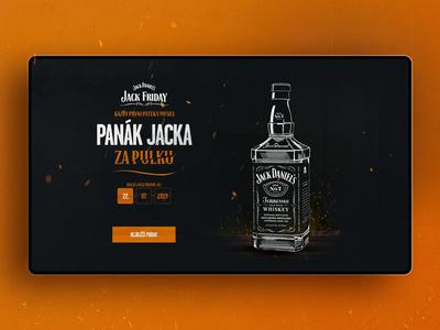 Jack Daniel's- Landing page Jack Friday jackdaniels landingpage webdesign website coctail ui ux animation vafighters design